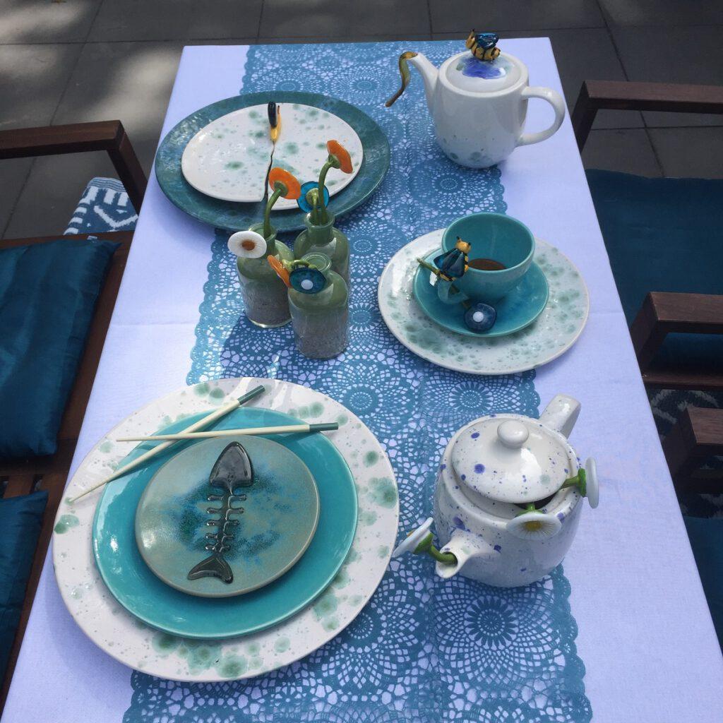 Dinner party gedekte tafel - Maureen Heijdemann - Glasvaardig