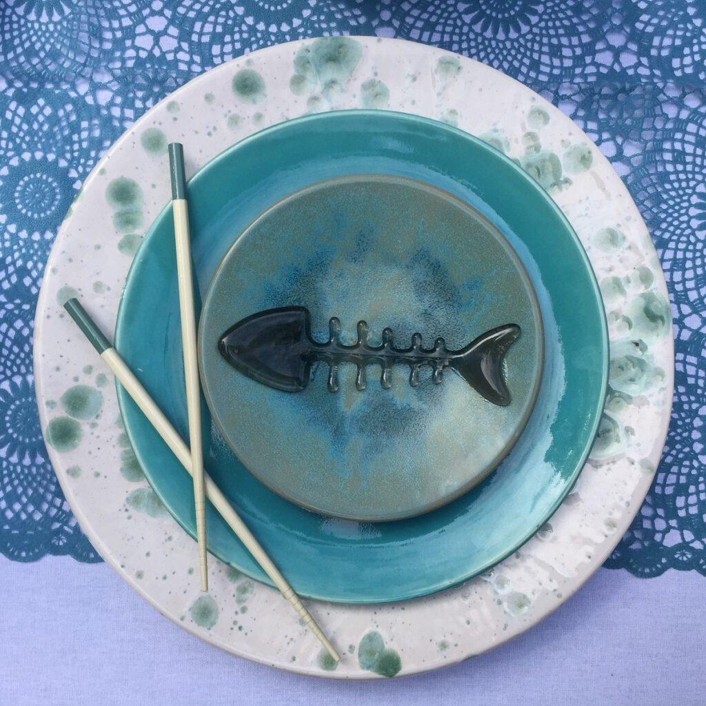 Sushi aqua - Maureen Heijdemann - Glasvaardig