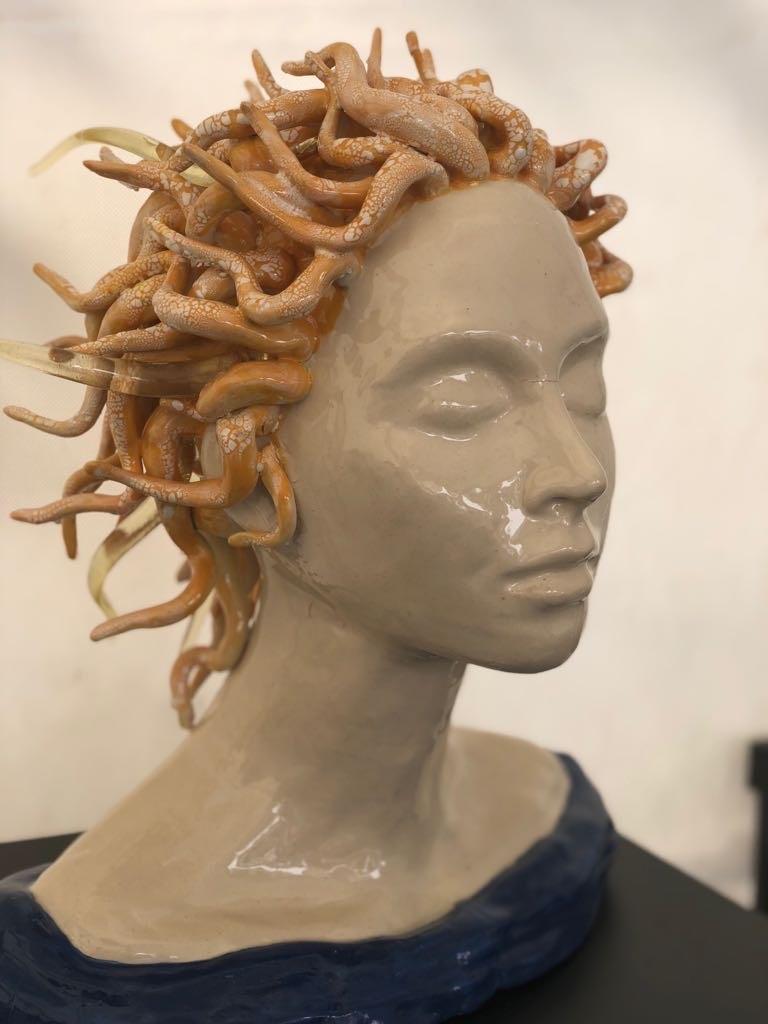 Blond hoofd - Maureen Heijdemann - Glasvaardig