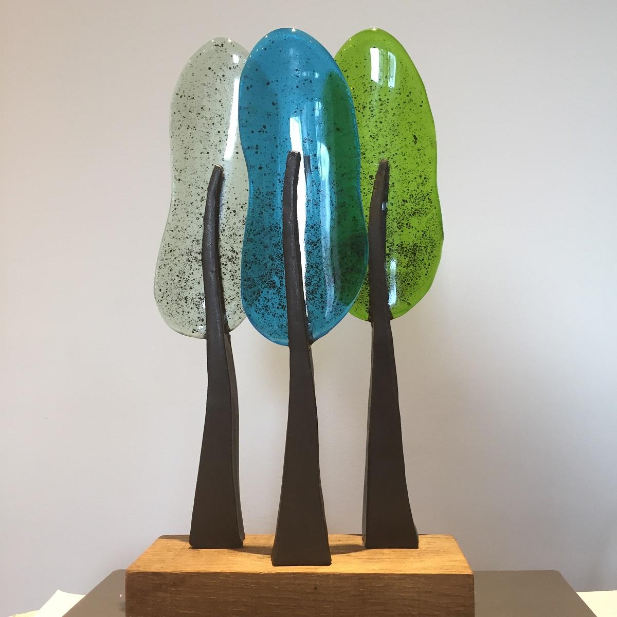Bomen 3 aqua - Maureen Heijdemann - Glasvaardig