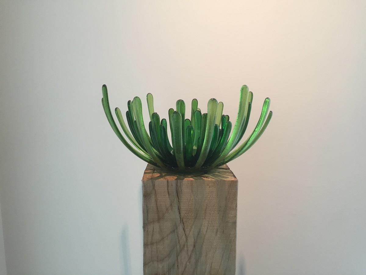 Chrysantschaal groen - Maureen Heijdemann - Glasvaardig
