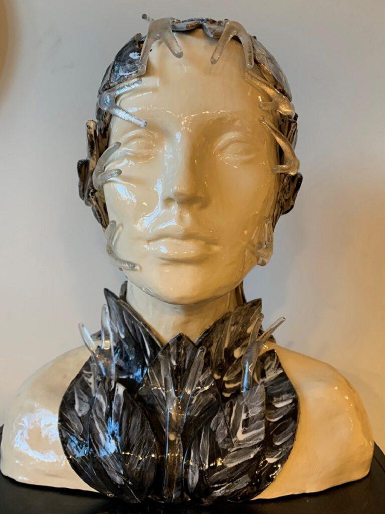 Hoofd blad - Maureen Heijdemann - Glasvaardig