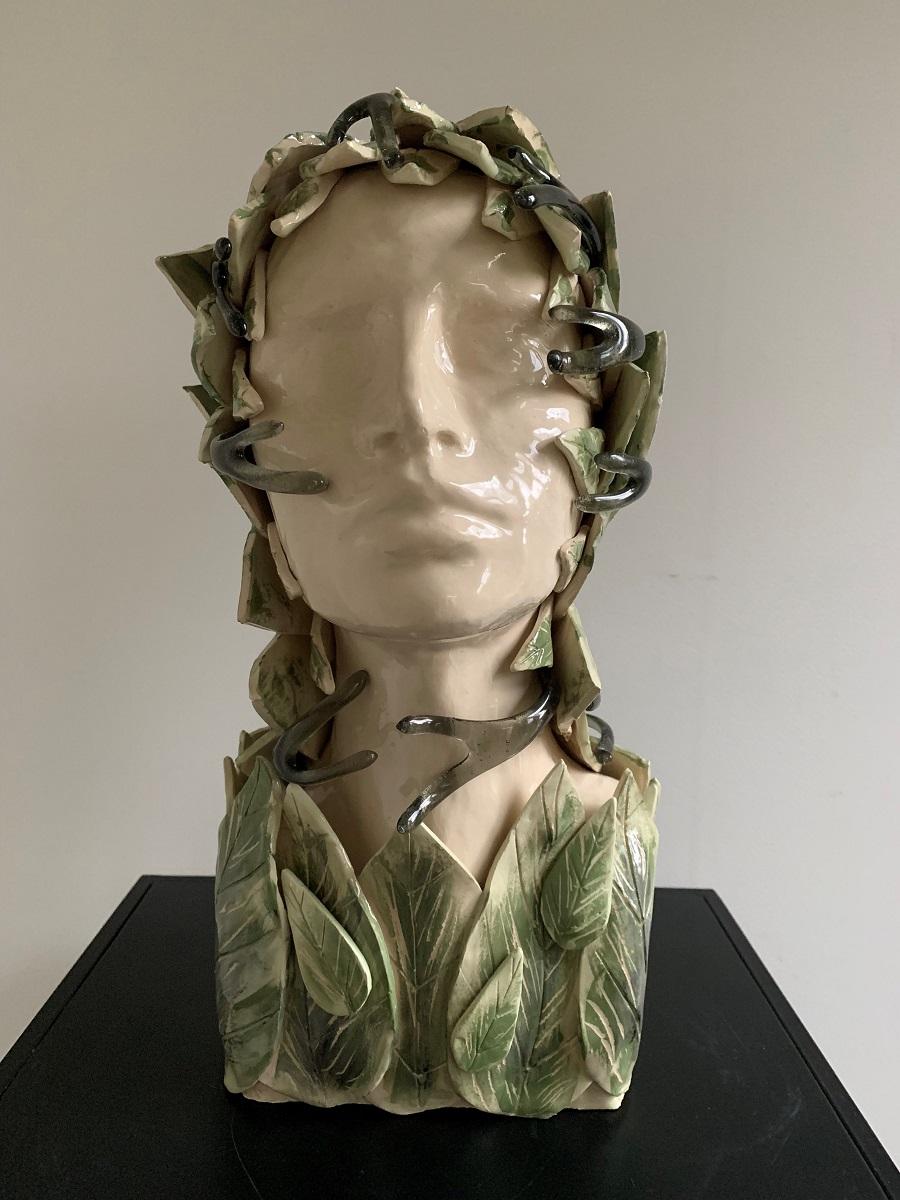 Hoofd groen blad - Maureen Heijdemann - Glasvaardig