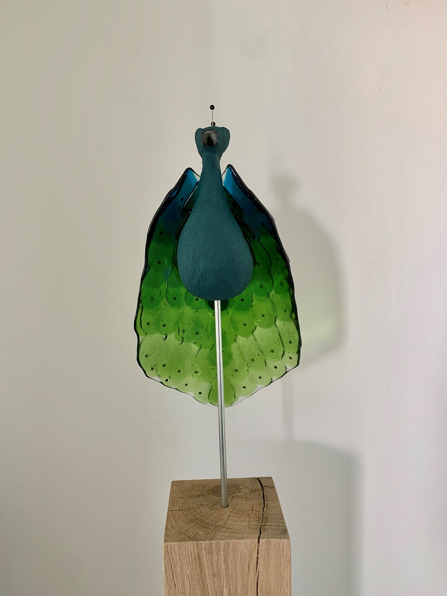 Paradijsvogel blauw - Maureen Heijdemann - Glasvaardig