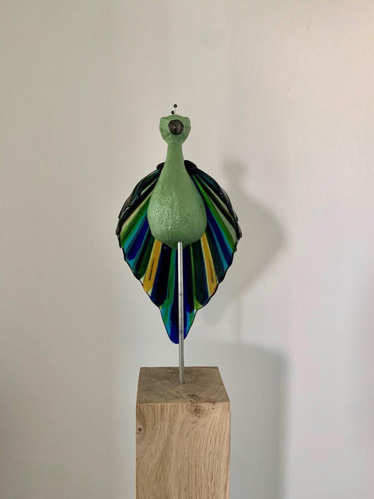Paradijsvogel groen - Maureen Heijdemann - Glasvaardig