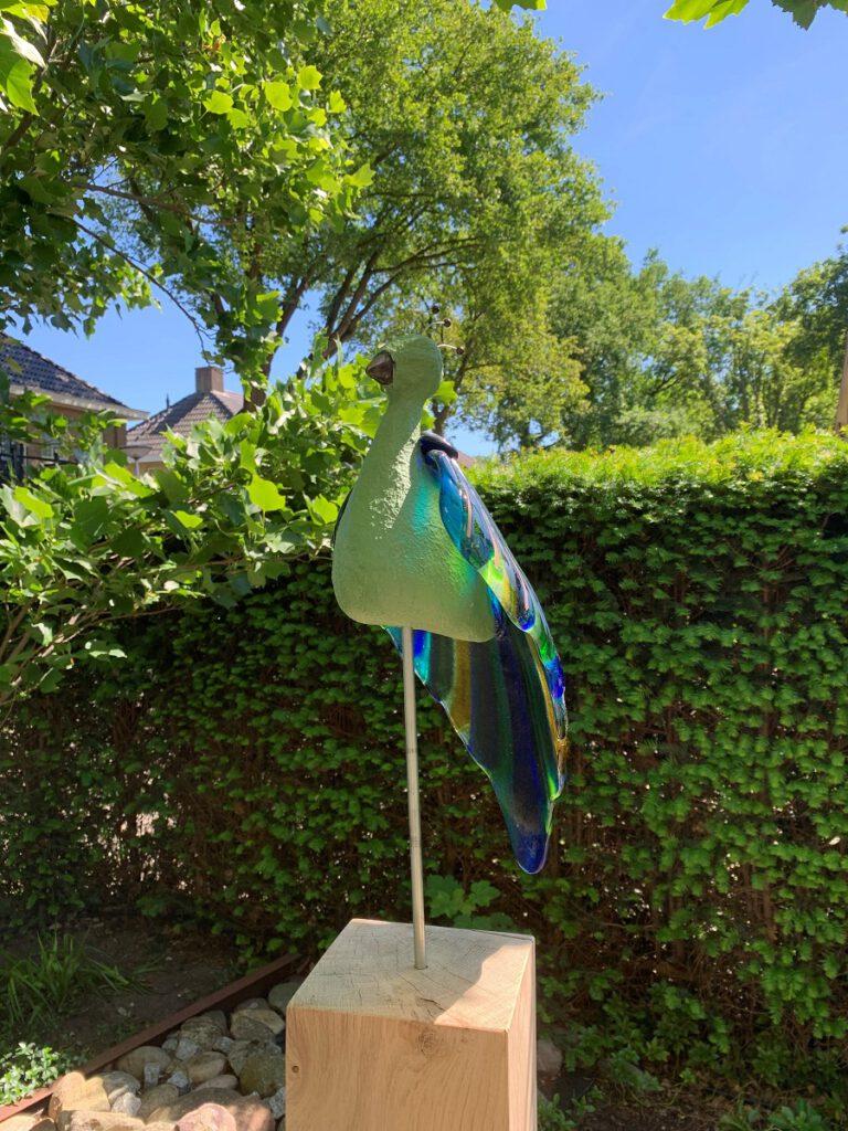 Paradijsvogel groen buiten - Maureen Heijdemann
