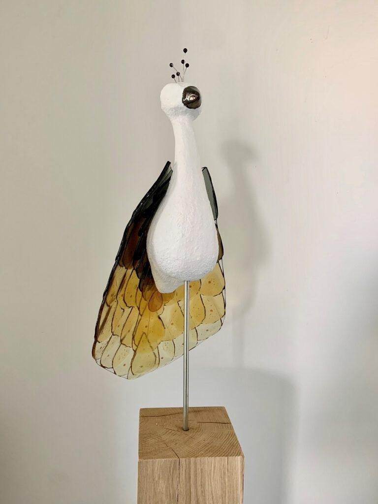 Paradijsvogel oker - Maureen Heijdemann - Glasvaardig