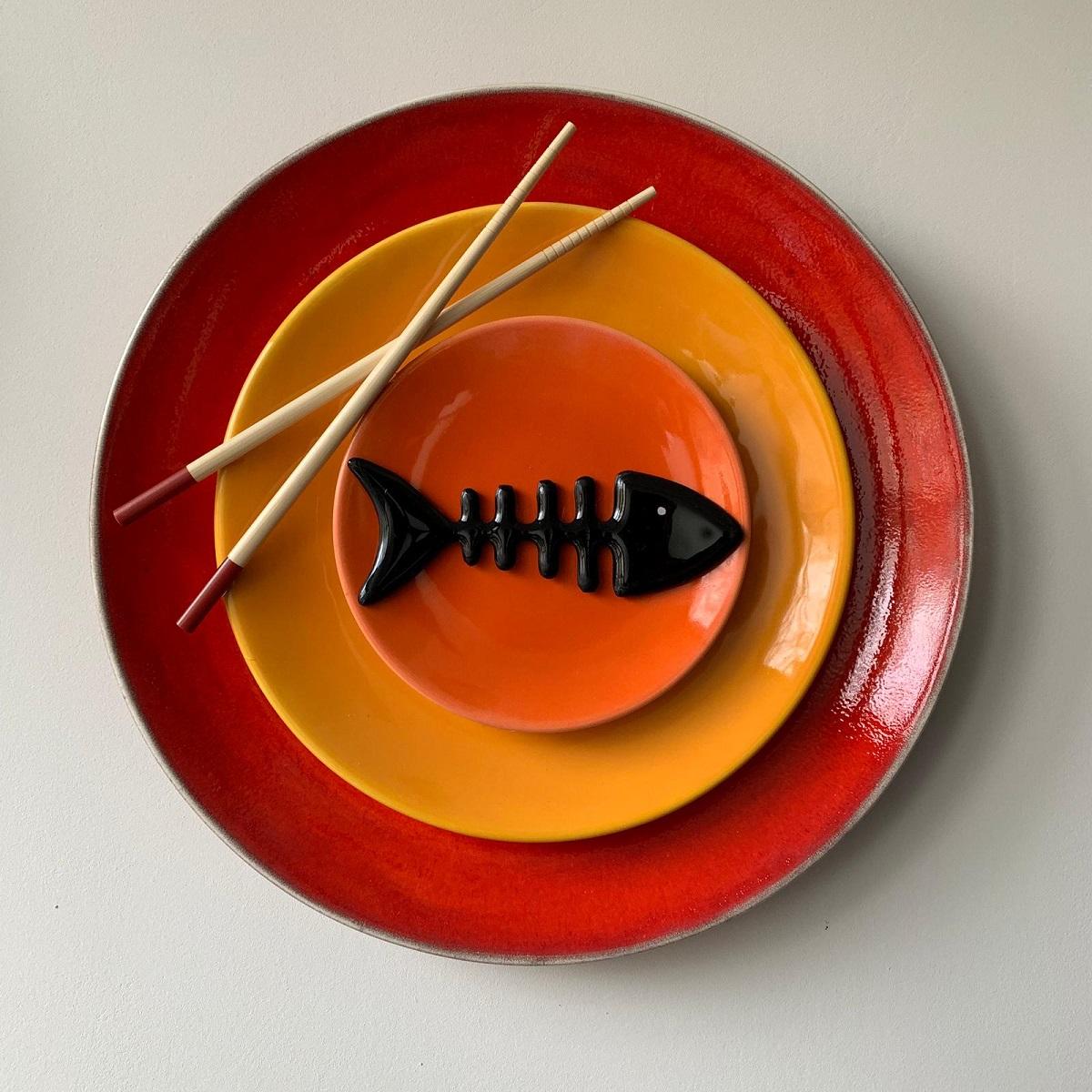 Sushi rood - Maureen Heijdemann - Glasvaardig